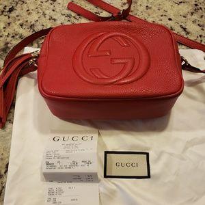 Gucci RED Soho Camera crossbody bag